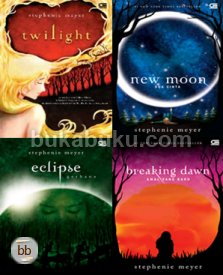 Paket Twilight COMPLETE Indonesia (Twilight, New Moon, Eclipse, Breaking Dawn)